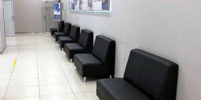 Офисные диваны для Газпромбанка