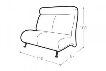 Офисный диван Флайт-классика 2-х местный