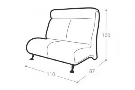 Офисный диван Флайт 2-х местный