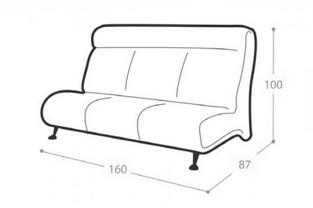 Офисный диван Флайт 3-х местный
