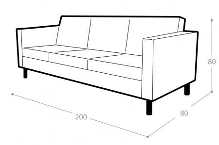 Офисный диван Гала 3-х местный