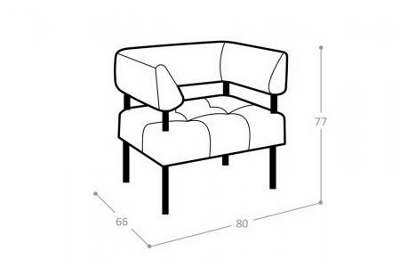 Мягкое кресло Каре