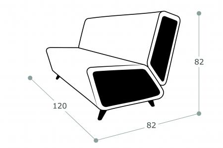 Офисный диван Остин 2-х местный