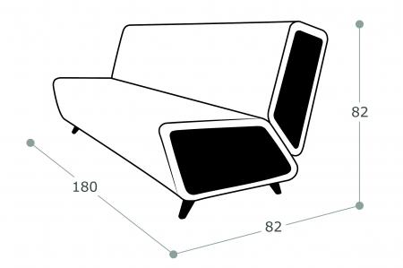 Офисный диван Остин 3-х местный