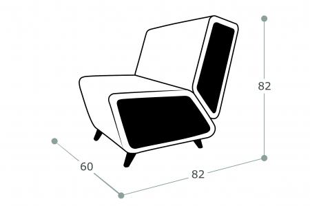 Мягкое кресло Остин