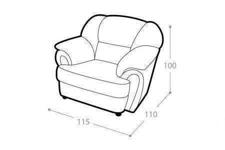 Мягкое кресло Престиж