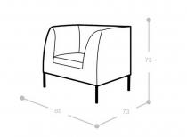 Мягкое кресло Мадрид